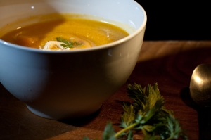 Roasted Butternut Squash Soup with Cashew Cream